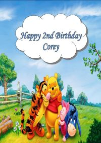 Personalised Winnie the Pooh Birthday Card